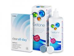 Clear All-Day (6šošoviek) + roztok Gelone 360 ml