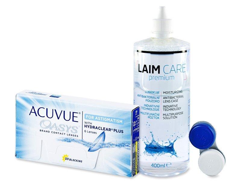 Acuvue Oasys for Astigmatism (6 šošoviek) +Laim-Care400ml