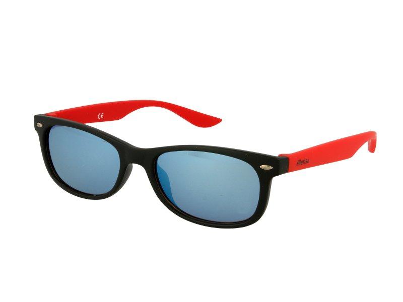 Detské slnečné okuliare Alensa Sport Black Red Mirror