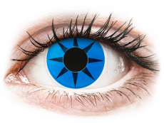 ColourVUE Crazy Lens - Blue Star - nedioptrické (2 šošovky)