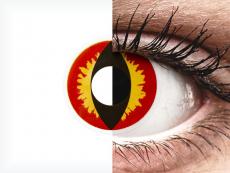ColourVUE Crazy Lens - Dragon Eyes - nedioptrické (2 šošovky)