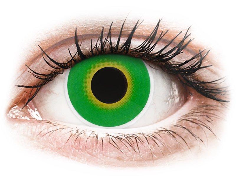 ColourVUE Crazy Lens - Hulk Green - nedioptrické (2 šošovky)