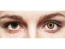 ColourVUE Crazy Lens - Orange Werewolf - nedioptrické (2 šošovky)