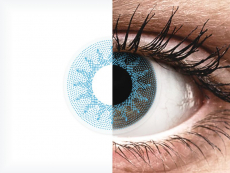 ColourVUE Crazy Lens - Solar Blue - nedioptrické (2 šošovky)