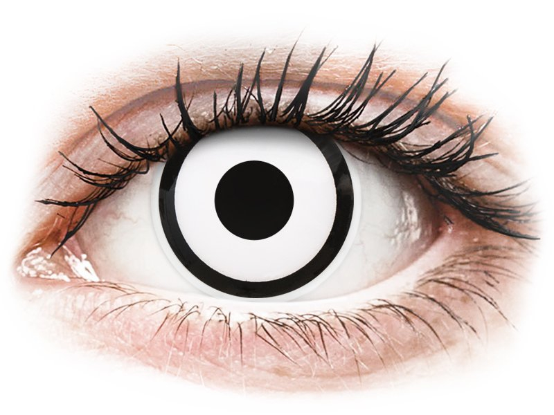 ColourVUE Crazy Lens - White Zombie - nedioptrické (2 šošovky)