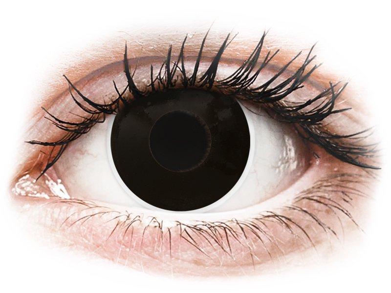 ColourVUE Crazy Lens - dioptrické (2 šošovky) BlackOut