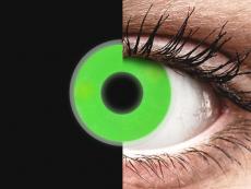 ColourVUE Crazy Glow Green - nedioptrické (2 šošovky)