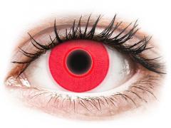 ColourVUE Crazy Glow Red - nedioptrické (2 šošovky)