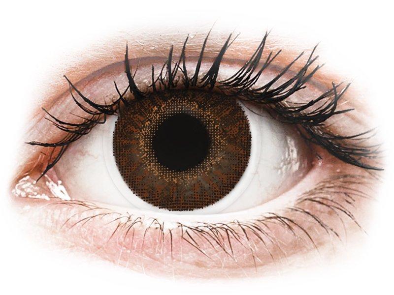 TopVue Color - Brown - dioptrické (2šošovky)