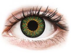 ColourVUE Glamour Green - dioptrické (2šošovky)
