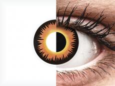 ColourVUE Crazy Lens - Orange Werewolf - jednodenné nedioptrické (2 šošovky)