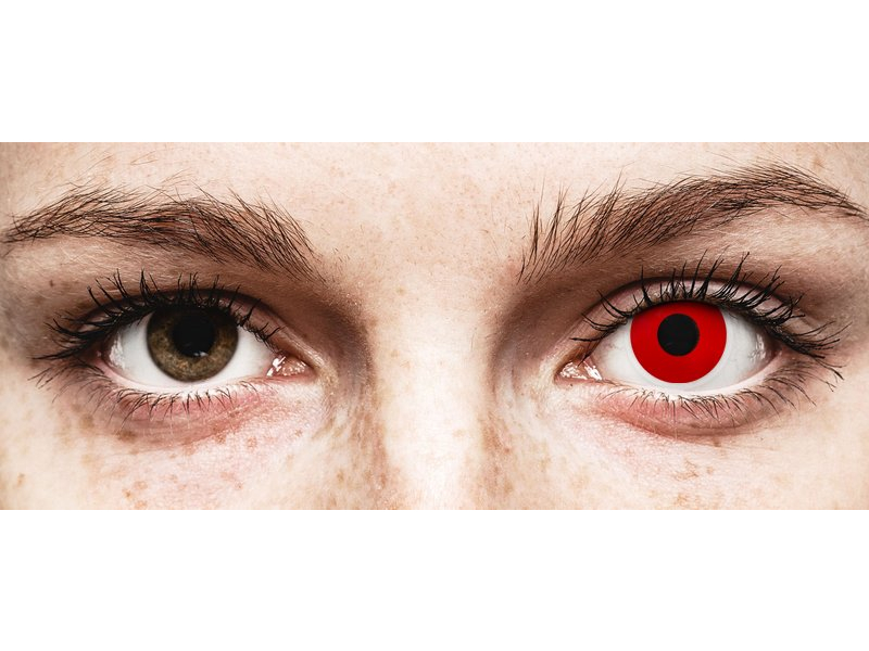 ColourVUE Crazy Lens - Red Devil - jednodenné nedioptrické (2 šošovky)