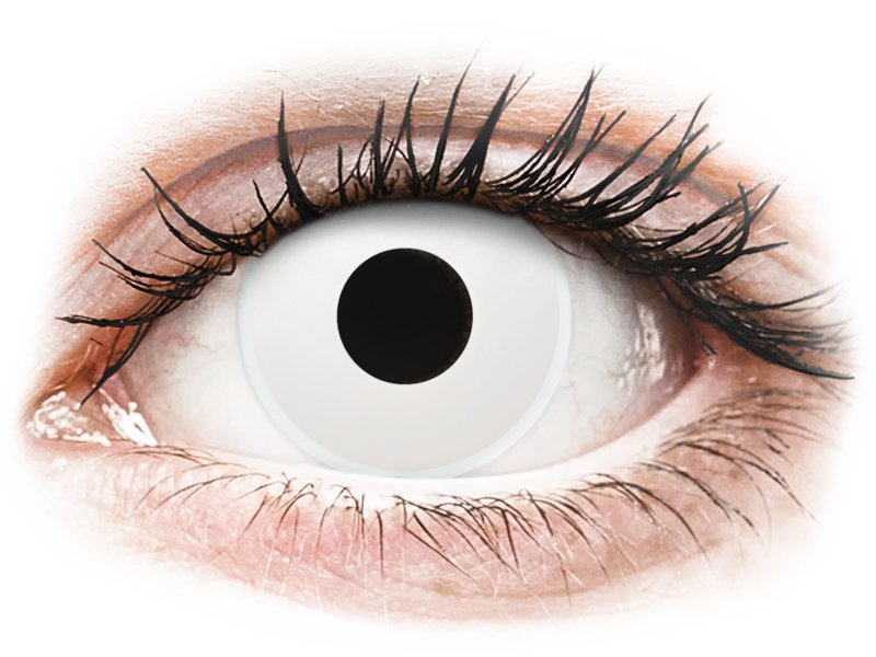 ColourVUE Crazy Lens - nedioptrické jednodenné (2 šošovky) Whiteout