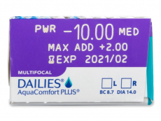 Dailies AquaComfort Plus Multifocal (30šošoviek)