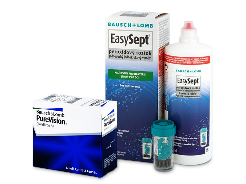 PureVision (6 šošoviek) + roztok EasySept 360 ml