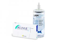Acuvue 2 (6 šošoviek) + roztok Laim-Care 400 ml
