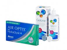 Air Optix plus HydraGlyde for Astigmatism (6 šošoviek) + roztok Gelone 360 ml