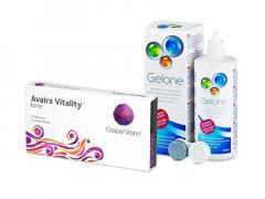 Avaira Vitality Toric (3 šošovky) + roztok Gelone 360 ml