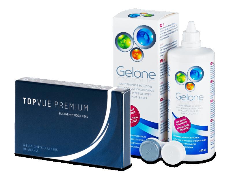 TopVue Premium (6 šošoviek) + roztok Gelone 360 ml