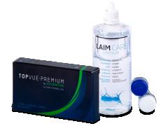 TopVue Premium for Astigmatism (3 šošovky) +roztok Laim-Care 400ml