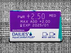 Dailies AquaComfort Plus Multifocal (90šošoviek)