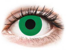 CRAZY LENS - Emerald Green - nedioptrické jednodenné (2 šošovky)