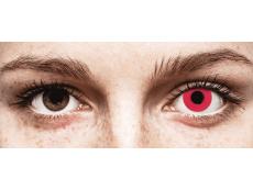 CRAZY LENS - Solid Red - nedioptrické jednodenné (2 šošovky)