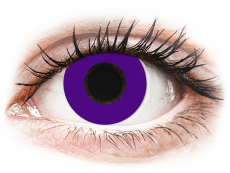 CRAZY LENS - Solid Violet - dioptrické jednodenné (2 šošovky)