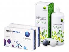 Biofinity Energys (2x 3 šošovky) + roztok Hy-Care 360 ml ZADARMO
