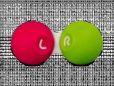 Pouzdro na kontaktné šošovky ružovo–zelené