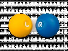 Pouzdro na kontaktné šošovky žlto–modré