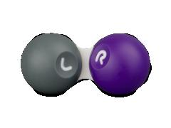 Pouzdro na kontaktné šošovky šedo-fialové