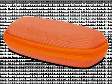 Puzdro so zipsom na detské okuliare oranžové