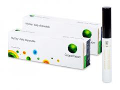 MyDay daily disposable (2x 30 šošoviek) + Dermacol riasenka Waterproof eyebrow 5 ml ZADARMO