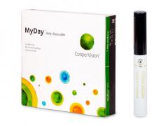 MyDay daily disposable (90 šošoviek) + Dermacol riasenka Waterproof eyebrow 5 ml ZADARMO